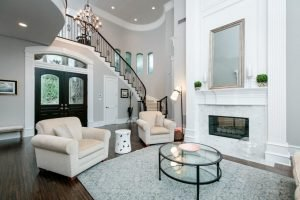 How to Decorate a Large 2 Story Entry
