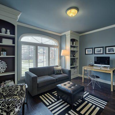 Beautifully designed blue study