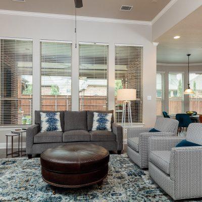Beautifully designed family room